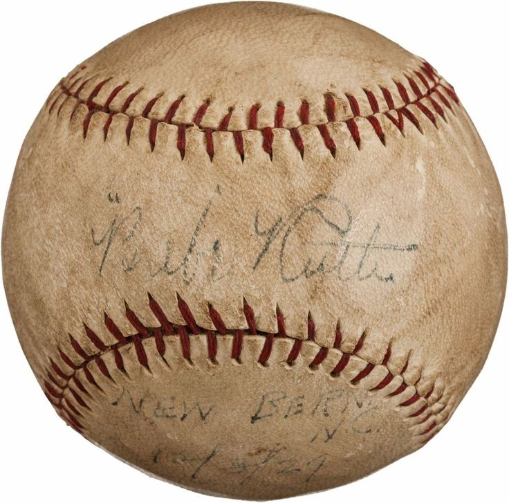 1927 babe ruth single signed autographed baseball with psa