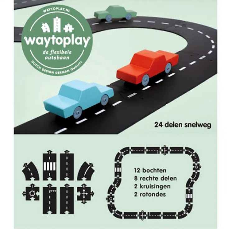 waytoplay snelweg (24-delig) | ilovespeelgoed.nl