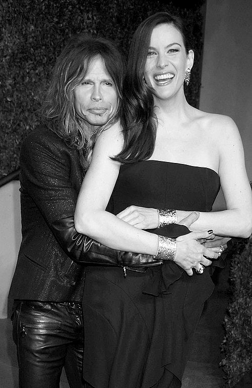 Steven and Liv Tyler- how did such a weird looking man create such a lovely daughter?