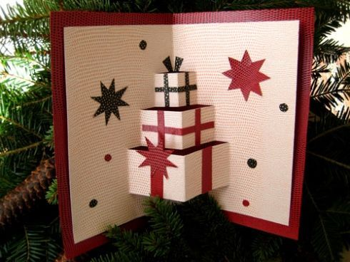 3D christmas card. Look at the tutorial, it' super easy!