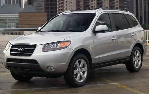 2008 Hyundai Sante Fe with six cylinder 2 wd.