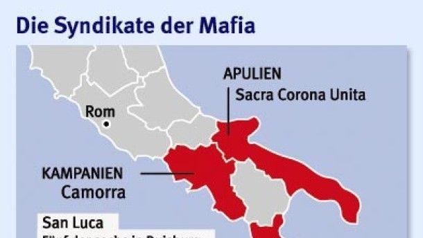 Infografik / Italien Kalabrien Mord / Die Syndikate der Mafia