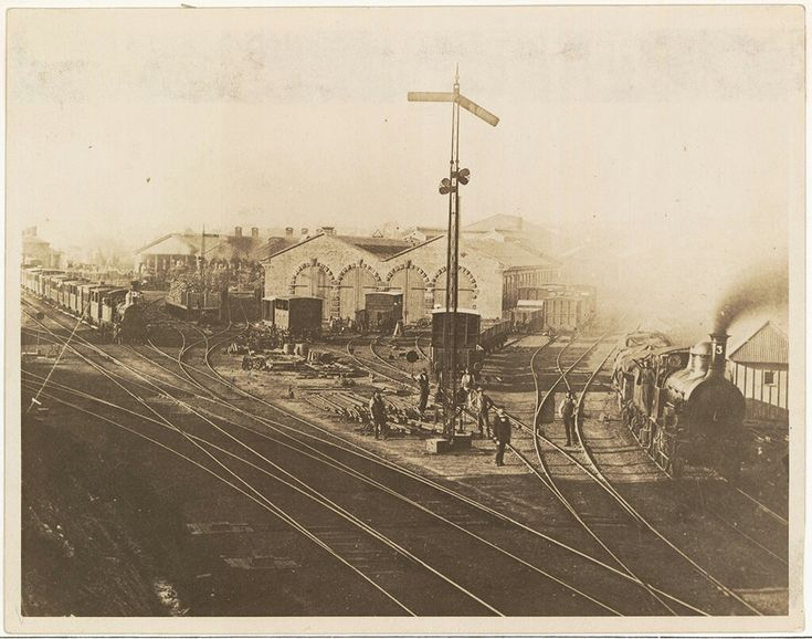 Sydney Depot and yard in 1865. •State Records of NSW•
