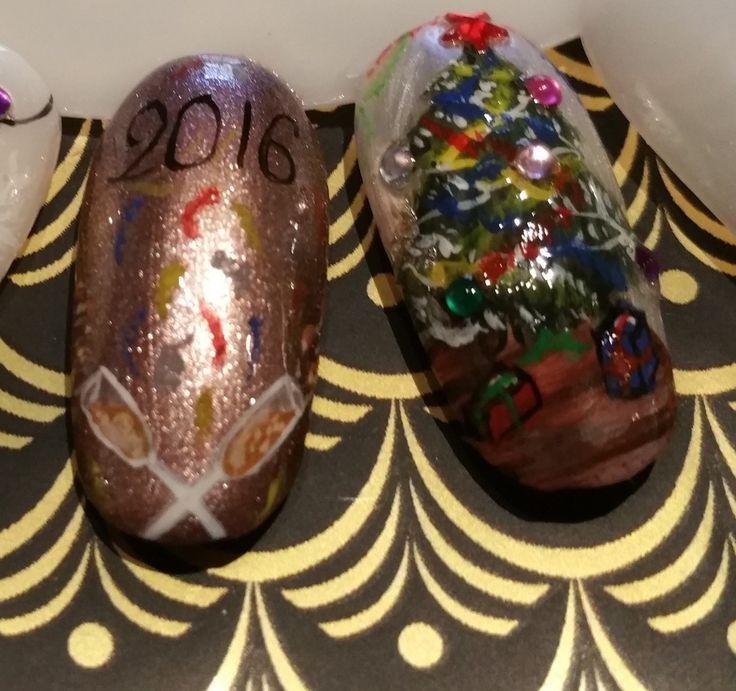 Nails Art de Noël et de la Saint Sylvestre - PassionS et CréationS