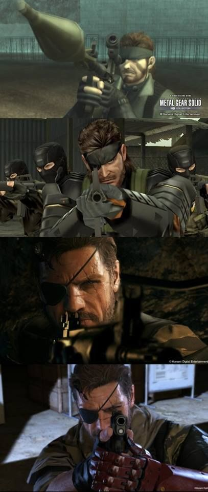 Solid Snake aiming down the sights. Literally Unplayable.