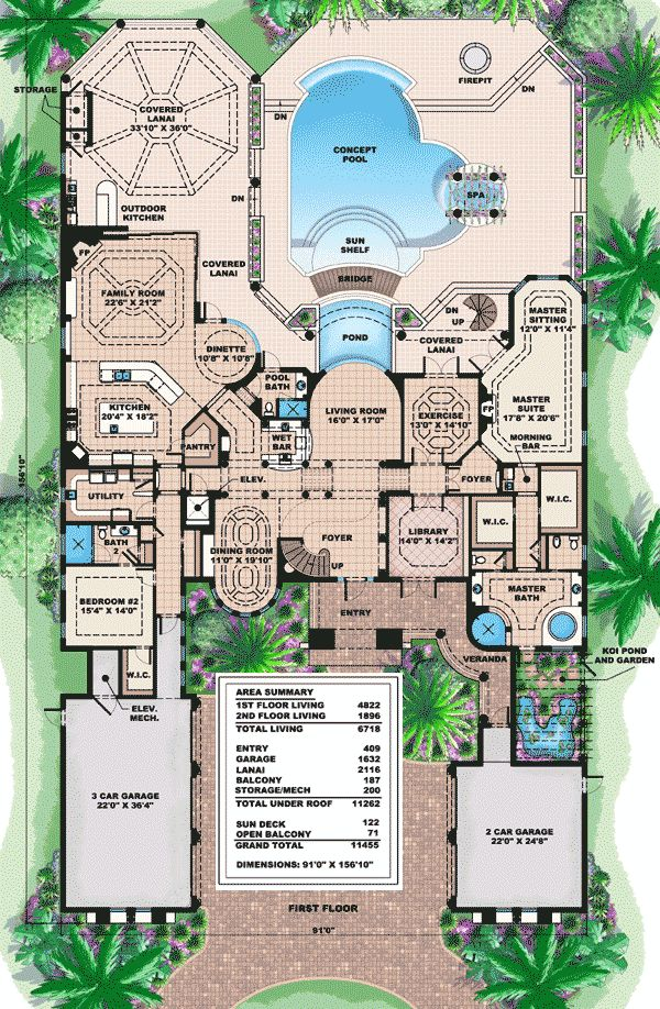 Plan 66191we captivating mediterranean design mediterranean design floor plans and floors - Mediterranean house floor plans paint ...