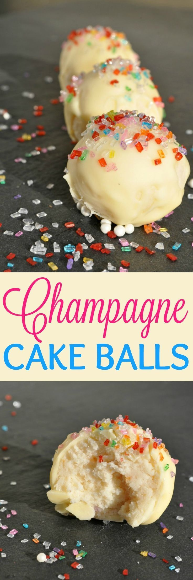 Champagne Cake Balls are the perfect easy dessert to add to your bridal shower, wedding, or other party menu!!!