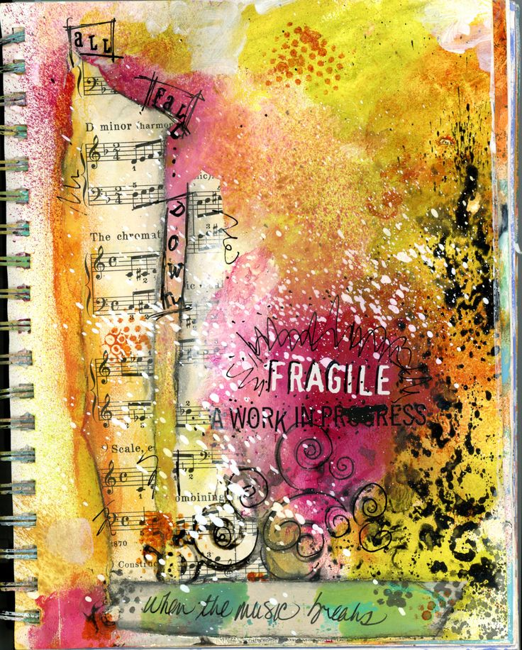 Art Journal Collage: Fragile - BananaCurlGIrl.com