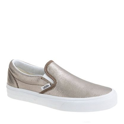 Vans® leather metallic classic slip-on shoes. Sold out everywhere. Any idea where I could find them in a size 8?