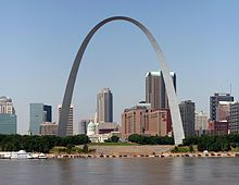 1965: Construction on the St. Louis Gateway Arch is completed on October 28. Designed by Finnish-American architect Eero Saarinen as a memorial to the westward expansion of the US, at 630 feet it is the tallest man-made monument in the US and the largest architectural structure designed as a weighted catenary arch.