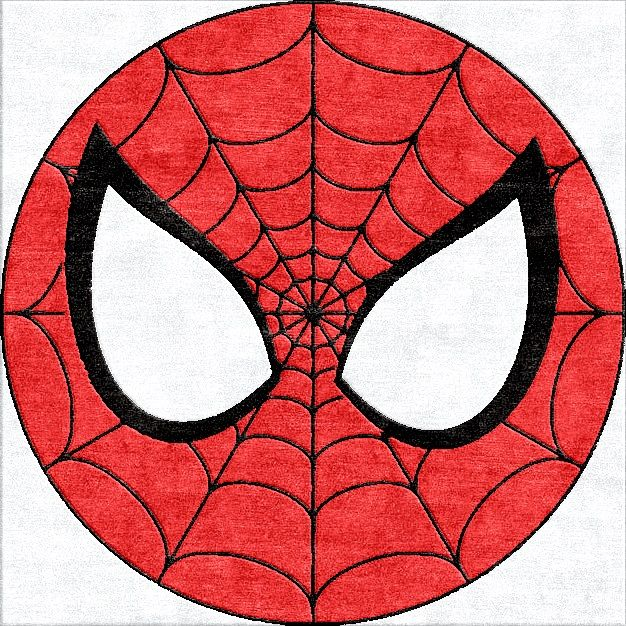 Spiderman Round Rug Can Be Made In Any Size For A Child