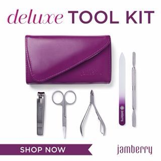 Deluxe Tool Kit New with a Glass Nail File, Purchase online at:  Http://nitanicole.jamberry.com