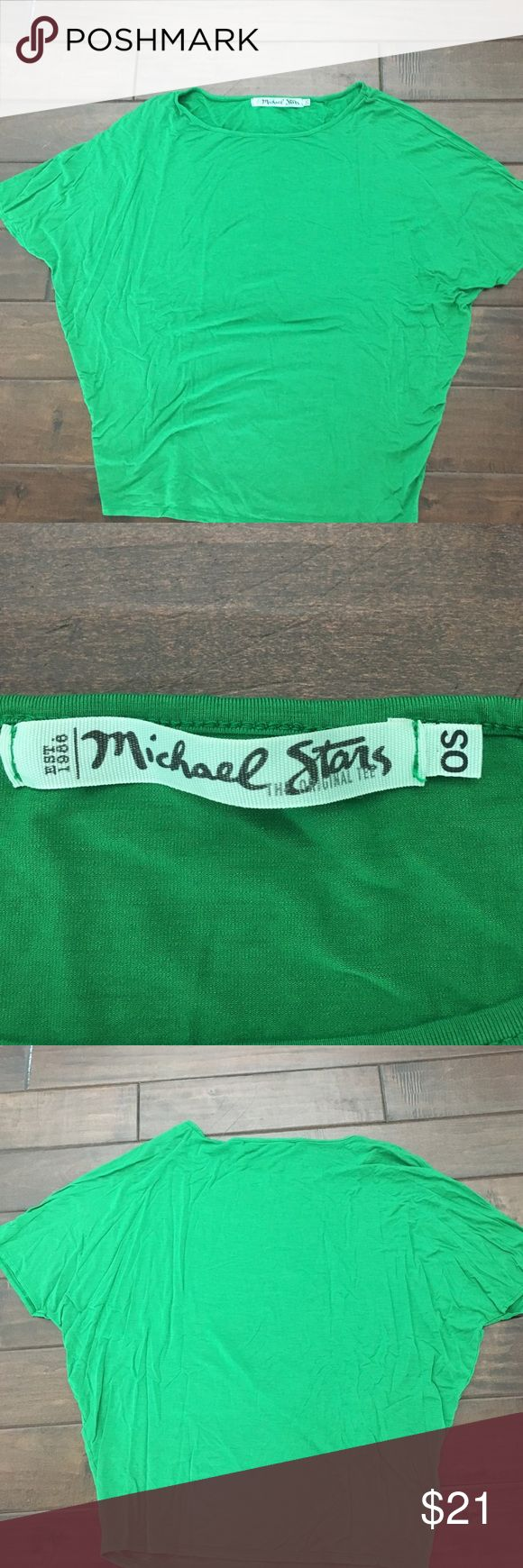 Michael Stars style #2268, green short sleeve top This top has a great fit and is in perfect condition. Pair it with jeans, cut offs, anything! Made of 95% rayon and 5% spandex. Get it now! One size Michael Stars Tops Tees - Short Sleeve