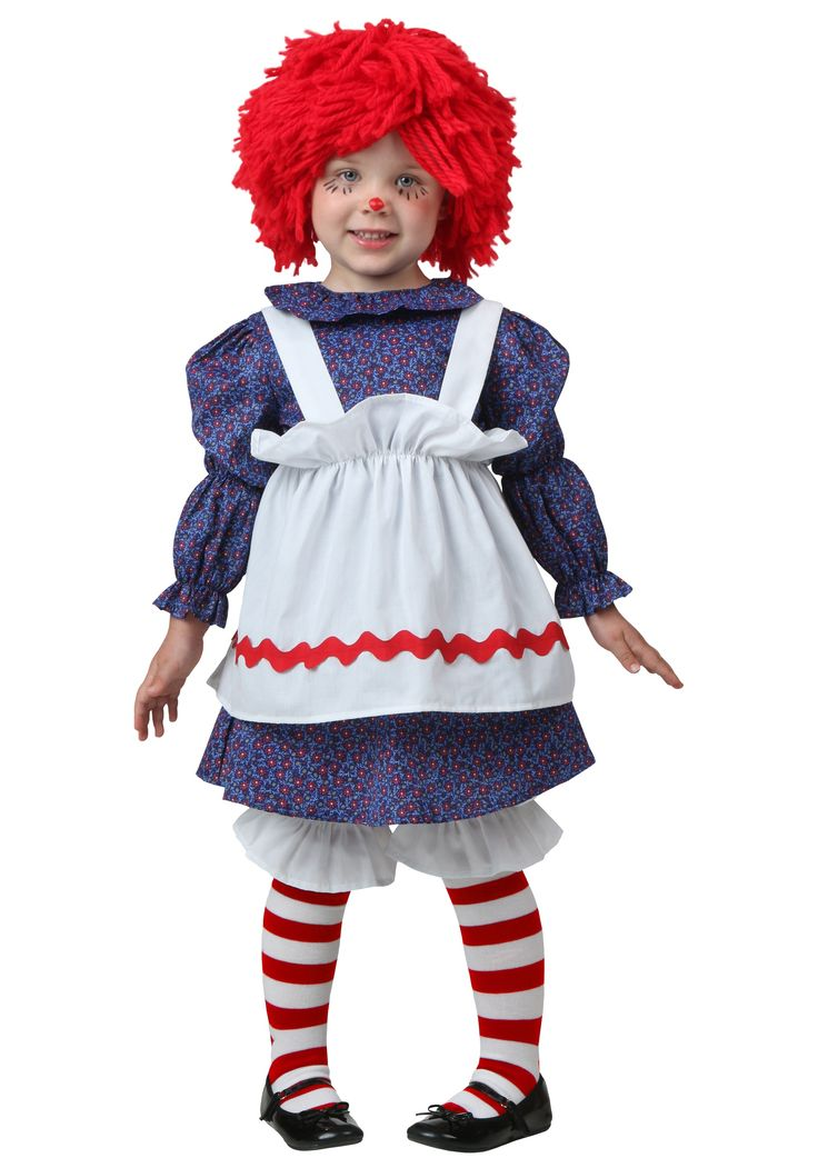 If your child loves to play with dolls, now she can be one this Halloween in our exclusive Toddler Little Rag Doll Costume!