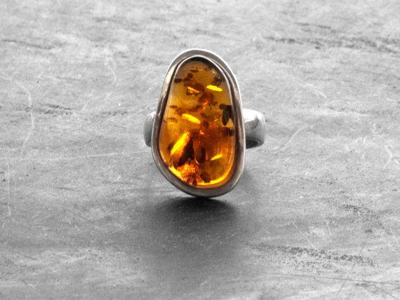 Natural Baltic Amber Ring Statement Ring Unique by http://www.sunsan.etsy.com   #santorini #santorinigreece #santoriniisland #greece #Санторини #Греция