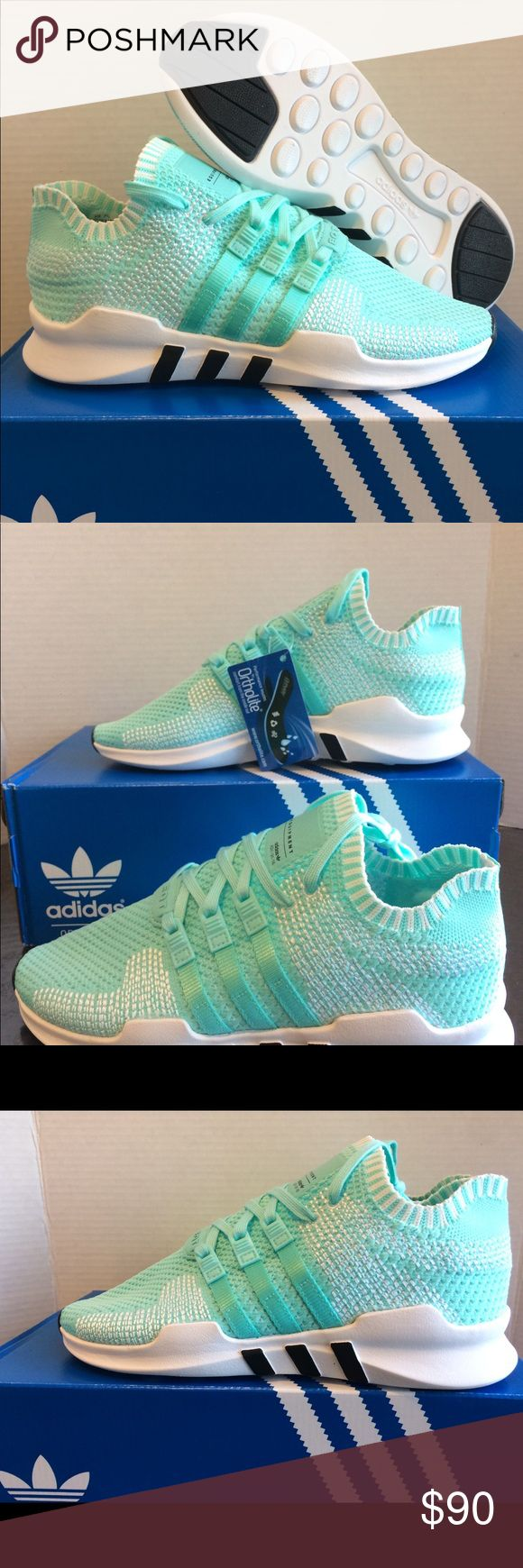 New Adidas EQT ADV Turquoise Running Shoes New Adidas    Size 7.5  Very great looking athletic shoes with amazing comfort. Don't end up paying those high prices when you can get them for an affordable price.  No refunds No low ballers Authentic    NMD, AVD, EQT, Mastermind, Primeknit, original, all stars, Bape, Ultraboost, tubular, Zx flux, adidas women, adidas running shoes, women's running shoes, women running track basketball soccer. Girly shoes NMD adidas, Jordan 1, Jordan 2, Jordan 3…