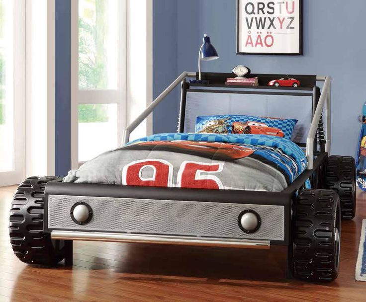 Sketch of Race Car Bed for Toddlers, Race Off to Kids' Dreamland