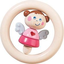 HABA Guardian Angel Natalie Wooden Clutching Toy & Teether Made in Germany