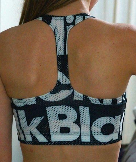 XS Black Milk Gym Crop Sample