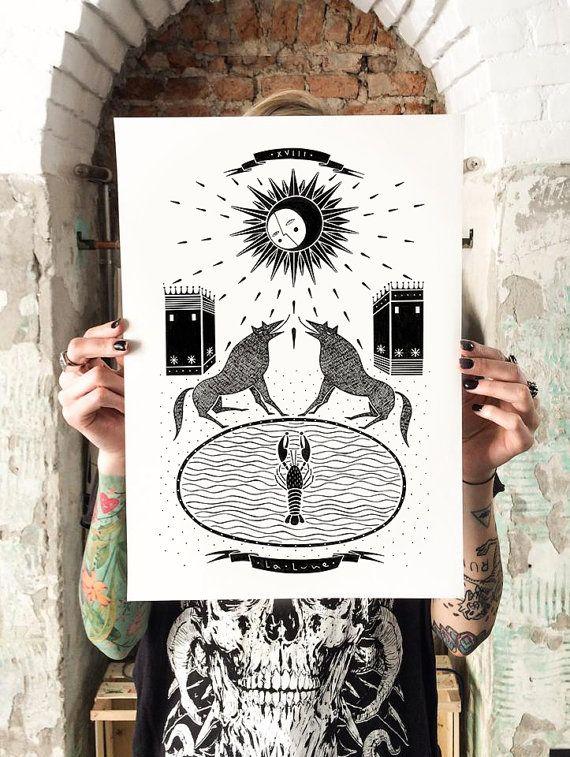 Poster La lune di Isoi su Etsy