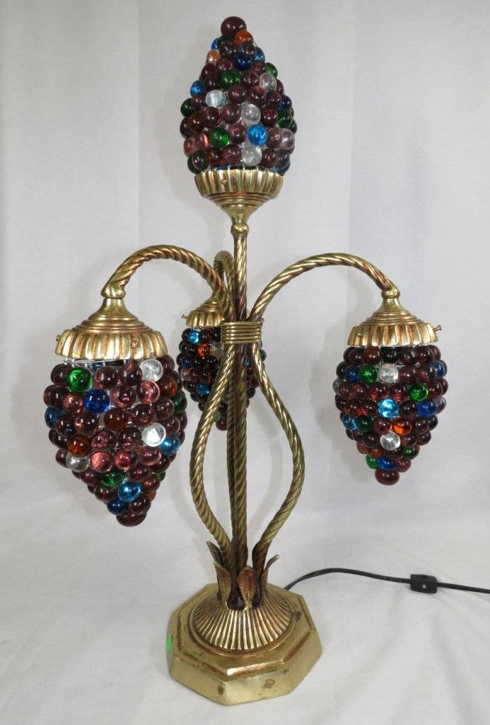 Bronze Table Lamp W Grape Shades Light And Lighting