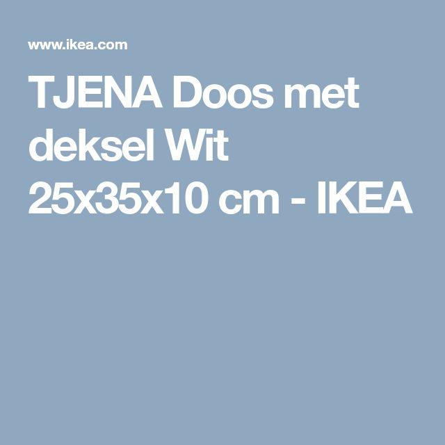 TJENA Doos met deksel Wit 25x35x10 cm  - IKEA
