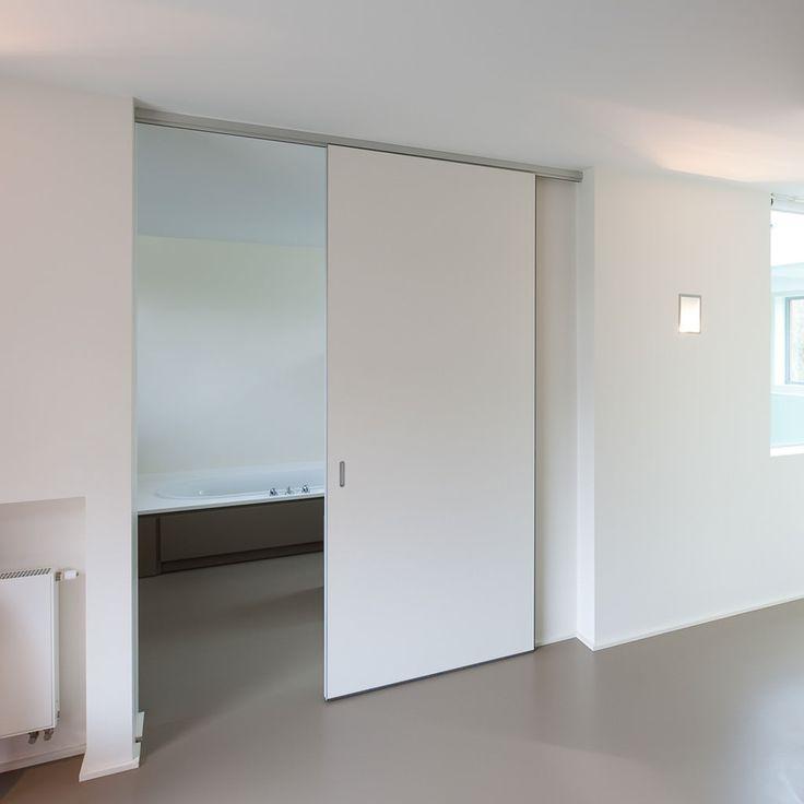 Moderne schuifdeur op maat zonder vloergeleiding