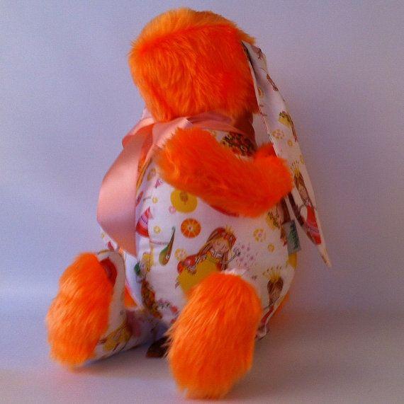 Orange - princessa soft cuddly bunny toy