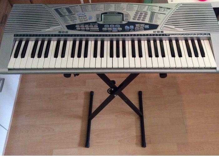 Neewer® - schwarze faltende festes Eisen Einzel-Verstrebungen X-Style Keyboard-Ständer mit Spanngurten