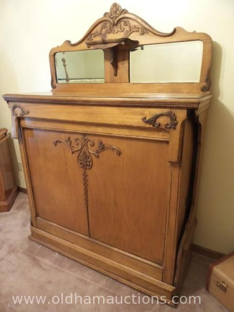 Antique Victorian Murphy Bed Selling At www.oldhamonlineauctions.com