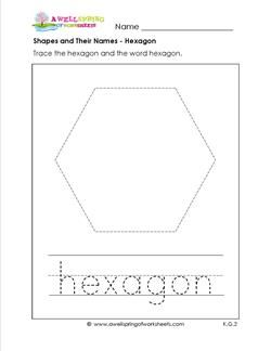 Form 6251 Worksheet Pdf Best  Shapes Worksheets Ideas Only On Pinterest  Tracing  Simple Machines Crossword Puzzle Worksheet Word with Grade 9 Geometry Worksheets Word A Shapes And Their Names Worksheet For A Hexagon Kids Trace The Large  Hexagon  Time Addition Worksheets Word