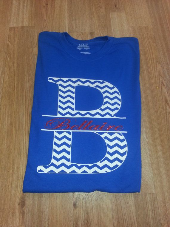 Chevron School Spirit Shirts With Glitter by CrystalsCreations98, $25.00