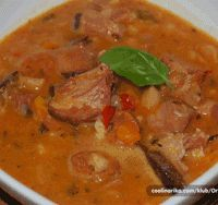 Pasulj (Serbian Bean Soup).  this version looks like what we grew up eating.