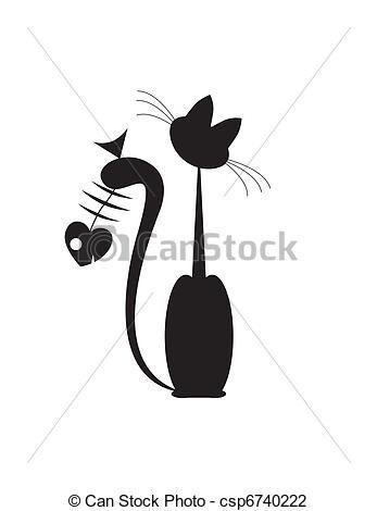 abstratos, gatos, peixe - csp6740222
