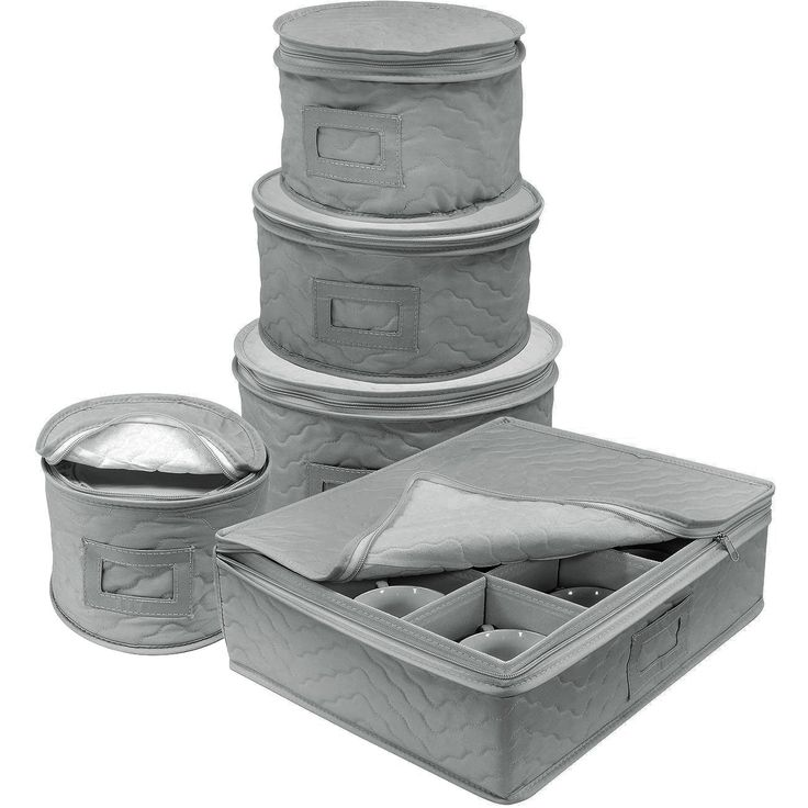 Sorbus Dinnerware Storage 5 Piece Set For Protecting Or Transporting  Dinnerware U2014 Service For 12