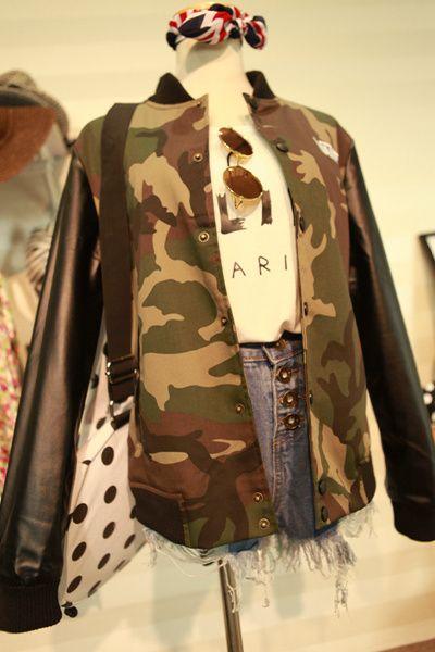 2014 осенний ветер Harajuku стиль камуфляж куртка случайные колледжа бейсбол шить PU кожа полупальто одежда для мужчин и женщин пары - Taoba...