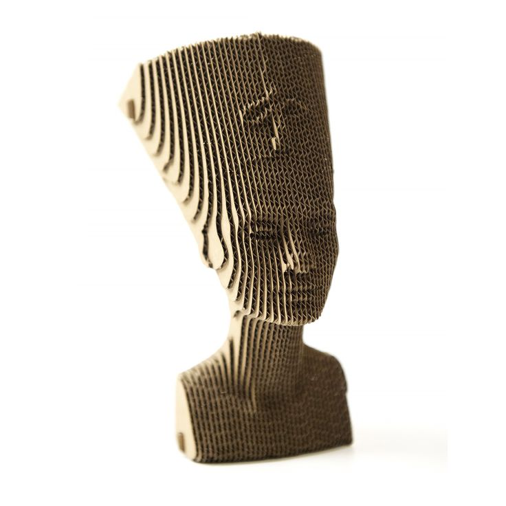 Nefertiti - cardboard sculpture of Qbi.Design