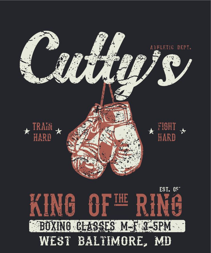 Cutty's Gym from The Wire. #boxing #gym #wire #tvshow #show #hbo #retro #vintage #shirt #apparel #training #boxer #fitness #train #fight