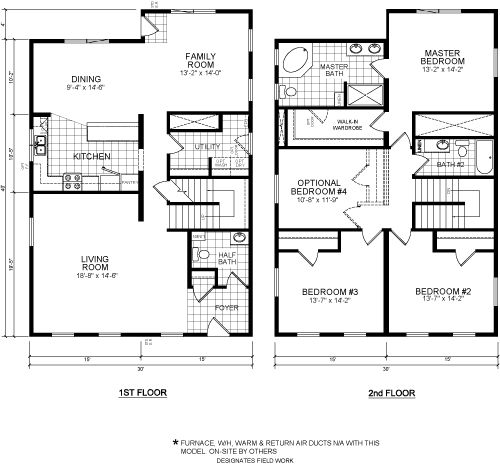 The Fitzgerald From Champion. Modular Home Design With 3780 Square Feet, 3  BR U0026