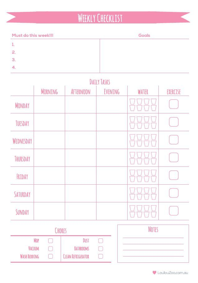 51 best Free Monthly\/Weekly Printables images on Pinterest - printable weekly planner