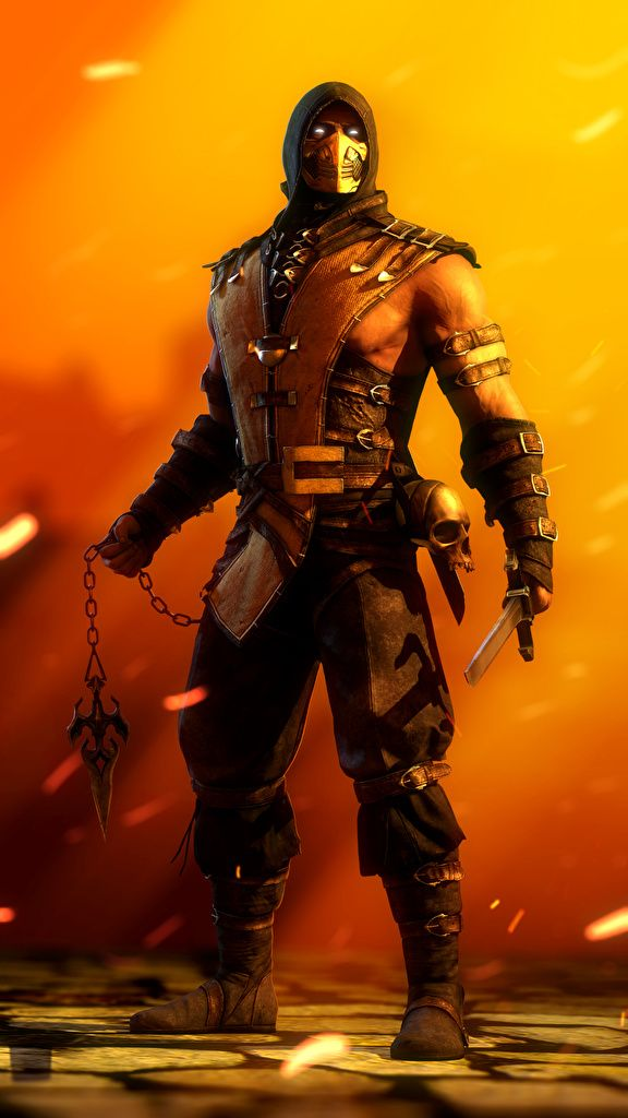 Image Mortal Kombat Ninja Warriors Scorpion Fantasy Games Masks Hood headgear