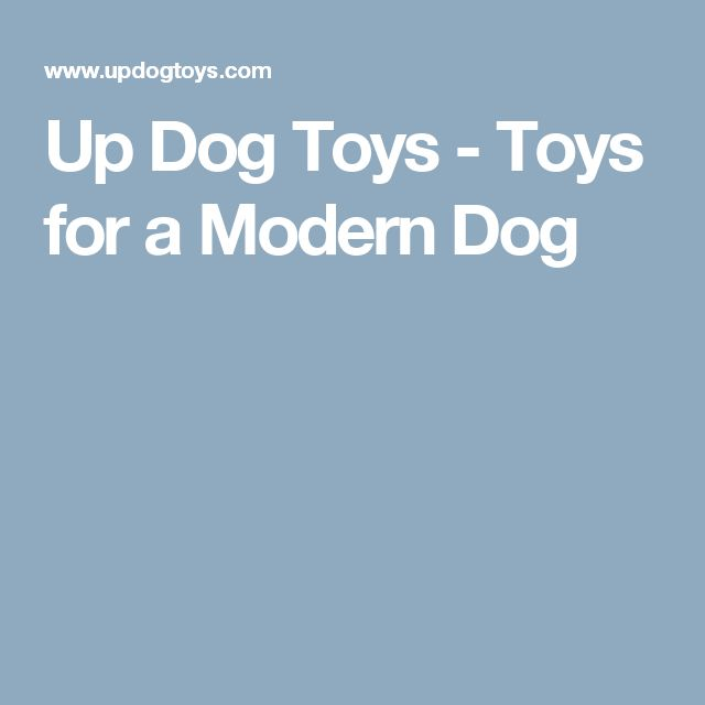 Up Dog Toys - Toys for a Modern Dog