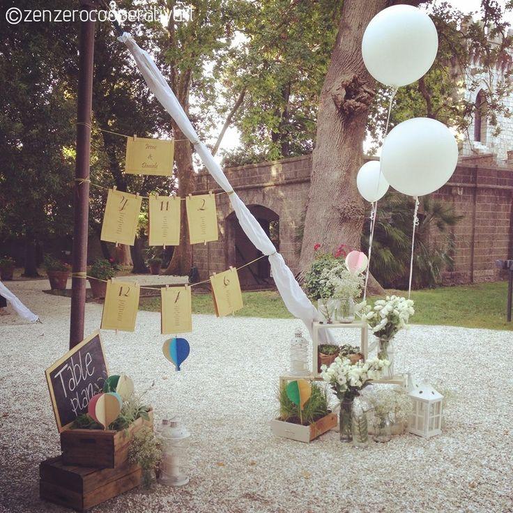 #Wedding Table Plan/#Tableau de Mariage. Inspiration: hot-air baloon.