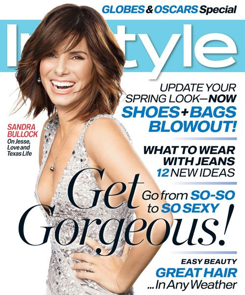 InStyle Magazine Covers: 2007 - March, Sandra Bullock from #InStyle