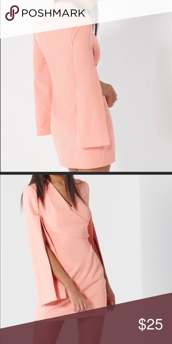 Lavish Alice coral wrap dress Coral Dress lavish alice Dresses