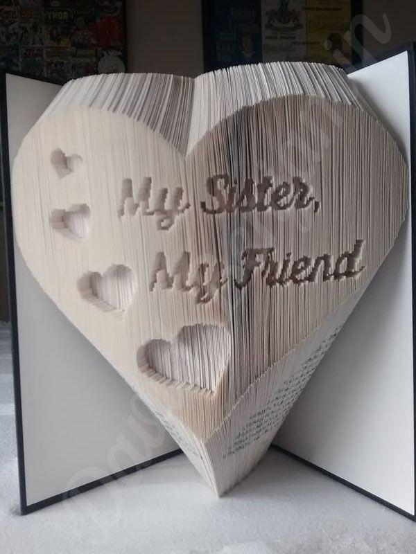My Sister My Friend Combi Cut and Fold Book Folding Pattern
