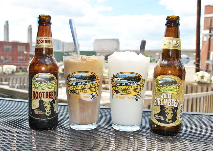 APPALACHIAN ROOT BEER FLOAT  Two scoops of vanilla ice cream served in a pint glass with a bottle of Appalachian Root Beer. Try it with Appalachian White Birch Beer, too!…5 #RootBeerFloat #BirchBeerFloat