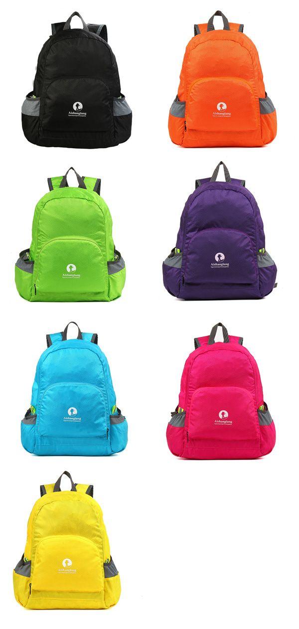 Nylon Folding Light Backpack Casual Sports Travel Shopping Bag Shoulder Bags