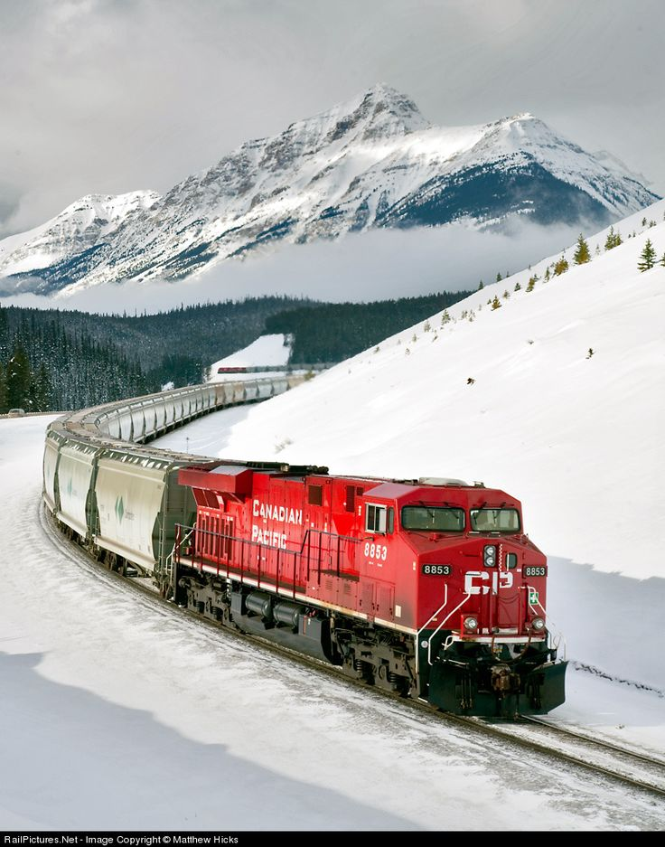 RailPictures.Net Photo: CP 8853 Canadian Pacific Railway GE ES44AC at Lake Louise, Alberta, Canada by Matthew Hicks