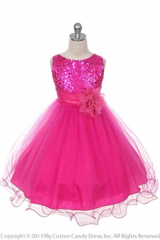 Fuchsia Flower Girl Dress